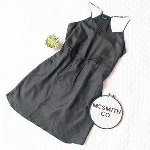 Madewell | Black 100% Silk TieWaist Daybreak Dress